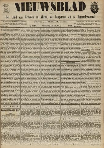 Nieuwsblad het land van Heusden en Altena de Langstraat en de Bommelerwaard 1893-07-12