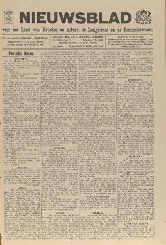 Nieuwsblad het land van Heusden en Altena de Langstraat en de Bommelerwaard 1949-02-21