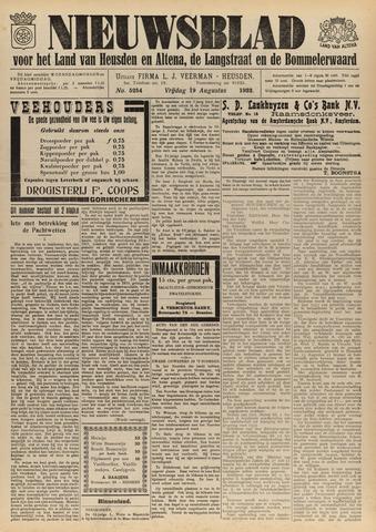 Nieuwsblad het land van Heusden en Altena de Langstraat en de Bommelerwaard 1932-08-19
