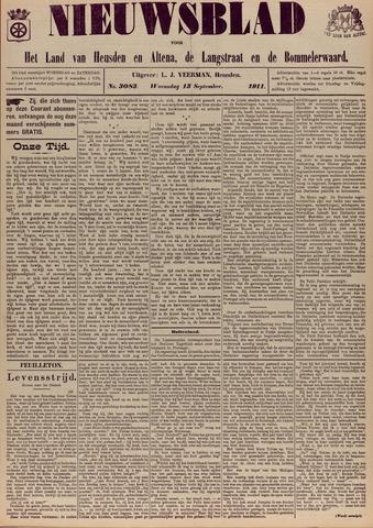 Nieuwsblad het land van Heusden en Altena de Langstraat en de Bommelerwaard 1911-09-13