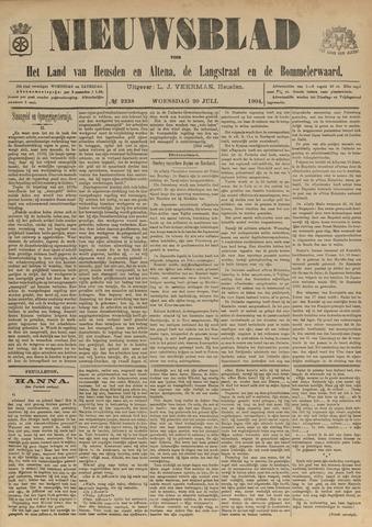 Nieuwsblad het land van Heusden en Altena de Langstraat en de Bommelerwaard 1904-07-20