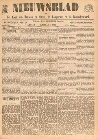 Nieuwsblad het land van Heusden en Altena de Langstraat en de Bommelerwaard 1905-07-22