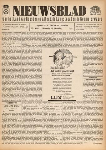 Nieuwsblad het land van Heusden en Altena de Langstraat en de Bommelerwaard 1921-12-28