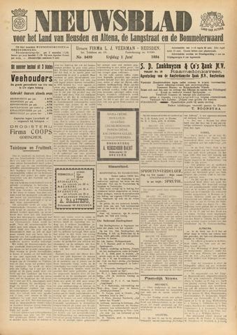 Nieuwsblad het land van Heusden en Altena de Langstraat en de Bommelerwaard 1934-06-01