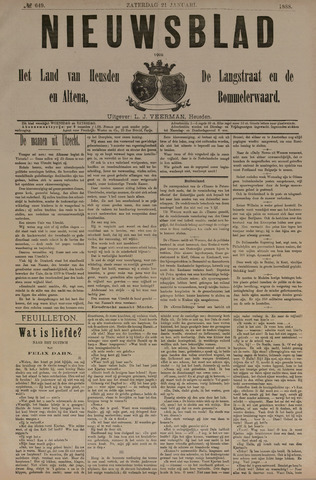 Nieuwsblad het land van Heusden en Altena de Langstraat en de Bommelerwaard 1888-01-21