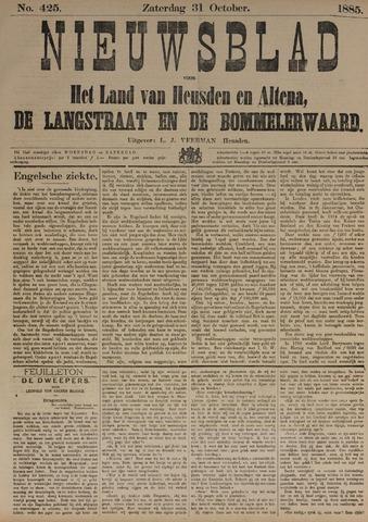 Nieuwsblad het land van Heusden en Altena de Langstraat en de Bommelerwaard 1885-10-31