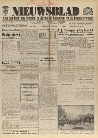 Nieuwsblad het land van Heusden en Altena de Langstraat en de Bommelerwaard 1941-10-10