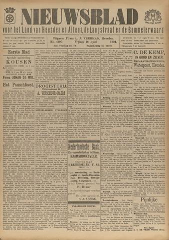 Nieuwsblad het land van Heusden en Altena de Langstraat en de Bommelerwaard 1924-04-18