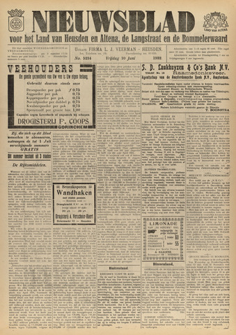 Nieuwsblad het land van Heusden en Altena de Langstraat en de Bommelerwaard 1932-06-10
