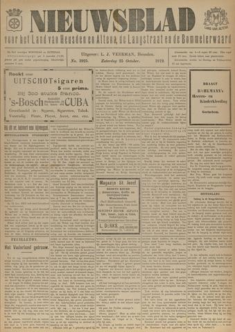 Nieuwsblad het land van Heusden en Altena de Langstraat en de Bommelerwaard 1919-10-25