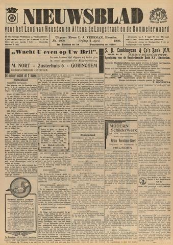 Nieuwsblad het land van Heusden en Altena de Langstraat en de Bommelerwaard 1930-04-04