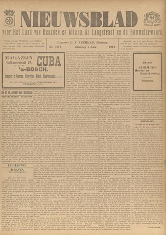 Nieuwsblad het land van Heusden en Altena de Langstraat en de Bommelerwaard 1918-06-01