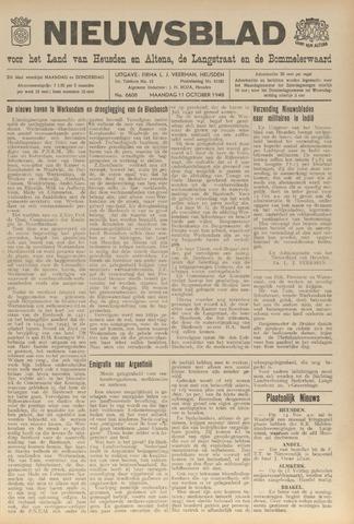 Nieuwsblad het land van Heusden en Altena de Langstraat en de Bommelerwaard 1948-10-11