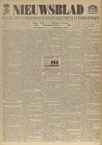 Nieuwsblad het land van Heusden en Altena de Langstraat en de Bommelerwaard 1924-10-29
