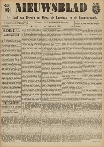 Nieuwsblad het land van Heusden en Altena de Langstraat en de Bommelerwaard 1895-12-07