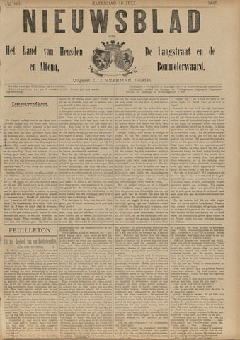 Nieuwsblad het land van Heusden en Altena de Langstraat en de Bommelerwaard 1887-07-16