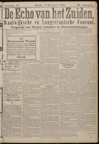 Echo van het Zuiden 1908-02-09