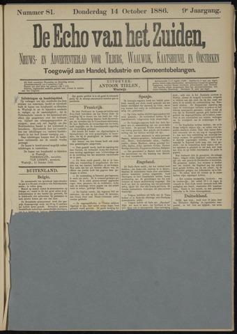 Echo van het Zuiden 1886-10-14