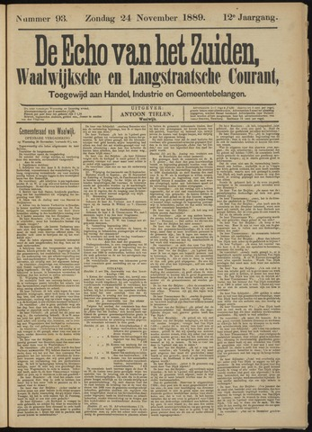 Echo van het Zuiden 1889-11-24