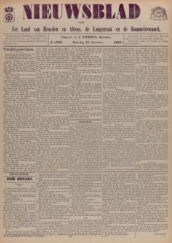 Nieuwsblad het land van Heusden en Altena de Langstraat en de Bommelerwaard 1908-11-21