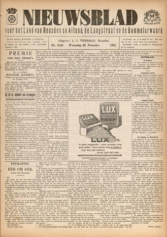 Nieuwsblad het land van Heusden en Altena de Langstraat en de Bommelerwaard 1921-11-30
