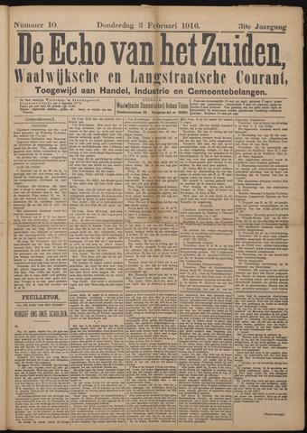 Echo van het Zuiden 1916-02-03