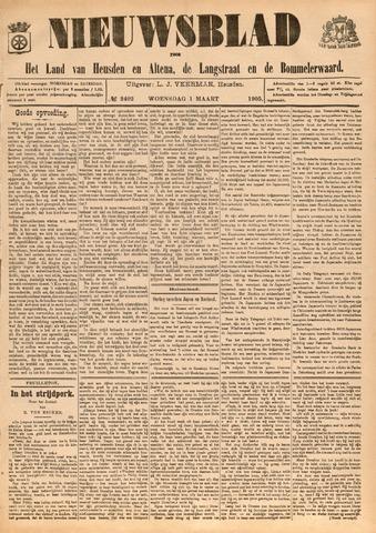 Nieuwsblad het land van Heusden en Altena de Langstraat en de Bommelerwaard 1905-03-01