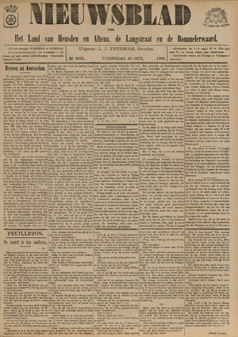 Nieuwsblad het land van Heusden en Altena de Langstraat en de Bommelerwaard 1901-10-30