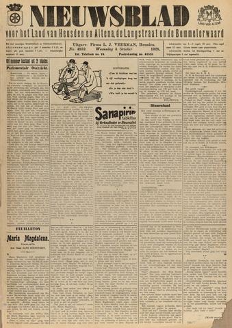 Nieuwsblad het land van Heusden en Altena de Langstraat en de Bommelerwaard 1928-10-03