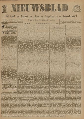 Nieuwsblad het land van Heusden en Altena de Langstraat en de Bommelerwaard 1896-09-23