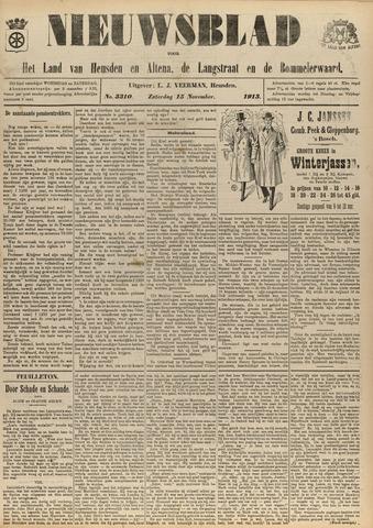 Nieuwsblad het land van Heusden en Altena de Langstraat en de Bommelerwaard 1913-11-15