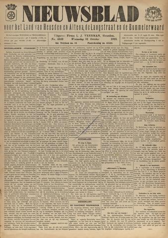 Nieuwsblad het land van Heusden en Altena de Langstraat en de Bommelerwaard 1923-10-31
