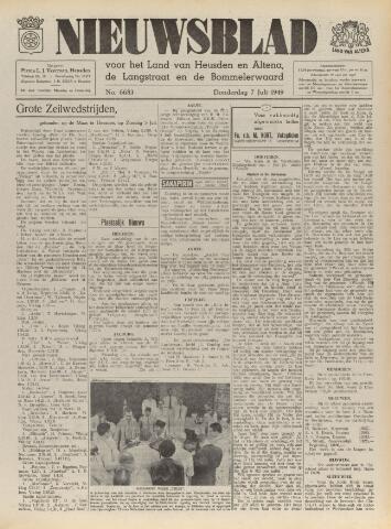 Nieuwsblad het land van Heusden en Altena de Langstraat en de Bommelerwaard 1949-07-07