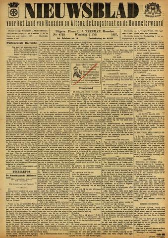 Nieuwsblad het land van Heusden en Altena de Langstraat en de Bommelerwaard 1927-07-06