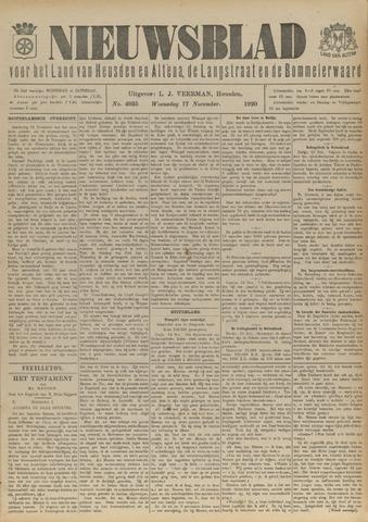 Nieuwsblad het land van Heusden en Altena de Langstraat en de Bommelerwaard 1920-11-17