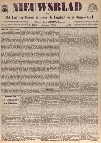Nieuwsblad het land van Heusden en Altena de Langstraat en de Bommelerwaard 1909-07-17