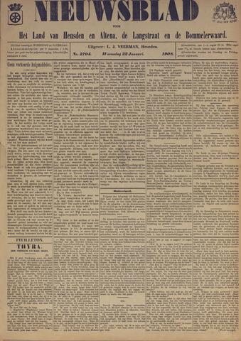 Nieuwsblad het land van Heusden en Altena de Langstraat en de Bommelerwaard 1908-01-22