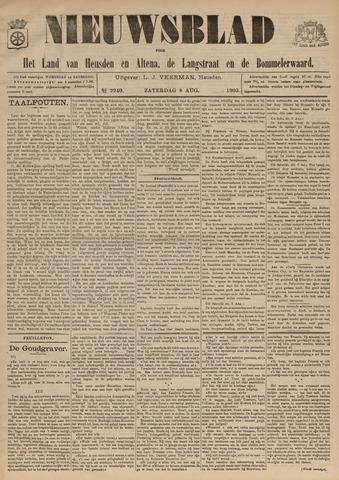 Nieuwsblad het land van Heusden en Altena de Langstraat en de Bommelerwaard 1903-08-08