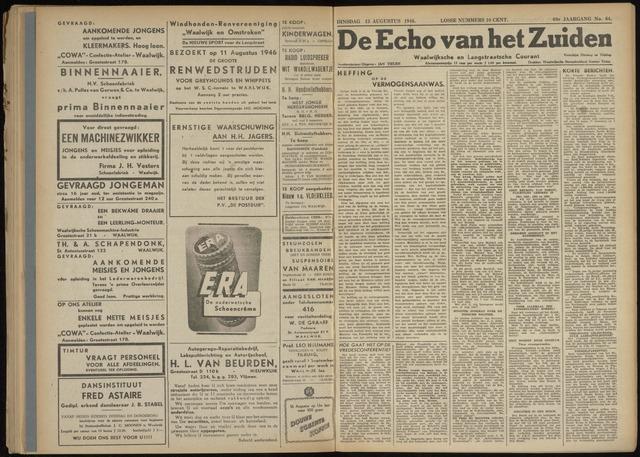 Echo van het Zuiden 1946-08-13