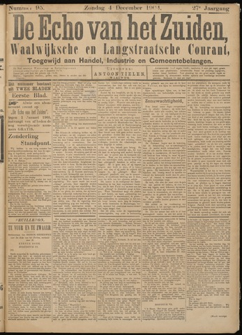 Echo van het Zuiden 1904-12-04