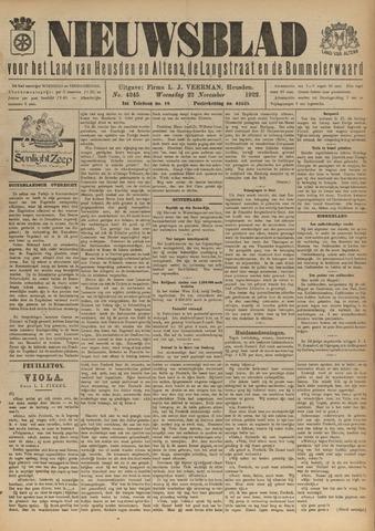Nieuwsblad het land van Heusden en Altena de Langstraat en de Bommelerwaard 1922-11-22