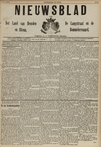 Nieuwsblad het land van Heusden en Altena de Langstraat en de Bommelerwaard 1891-07-18