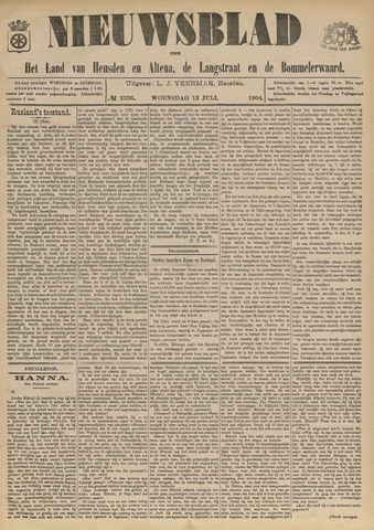 Nieuwsblad het land van Heusden en Altena de Langstraat en de Bommelerwaard 1904-07-13