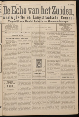Echo van het Zuiden 1937-07-21