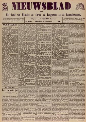 Nieuwsblad het land van Heusden en Altena de Langstraat en de Bommelerwaard 1911-09-27