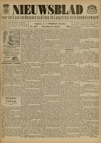 Nieuwsblad het land van Heusden en Altena de Langstraat en de Bommelerwaard 1922-08-16