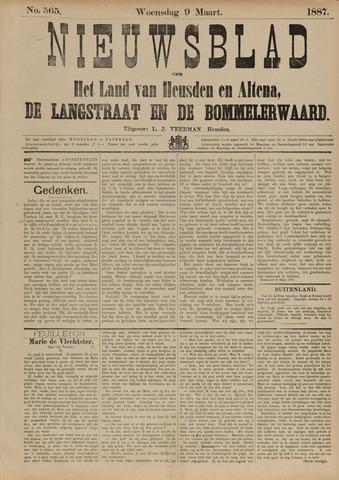 Nieuwsblad het land van Heusden en Altena de Langstraat en de Bommelerwaard 1887-03-09