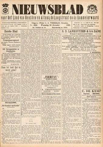 Nieuwsblad het land van Heusden en Altena de Langstraat en de Bommelerwaard 1925-12-23