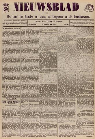 Nieuwsblad het land van Heusden en Altena de Langstraat en de Bommelerwaard 1910-05-11