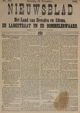 Nieuwsblad het land van Heusden en Altena de Langstraat en de Bommelerwaard 1885-11-21